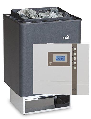 Eos Sauna Ofen Thermat 7,5 kW Made in Germany mit Design Aussensteuerung EOS ECON D1 und Saunasteine