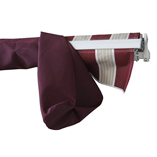 ALEKO AWPSC13X10BD37 Protective Awning Cover Rain Canopy Storage Bag 13 x 10 Feet Burgundy by ALEKO