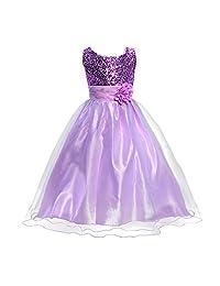 Bling Bling Sequins Camellia Flower Full Dress Toddler Ballet Tutu for Little Girls