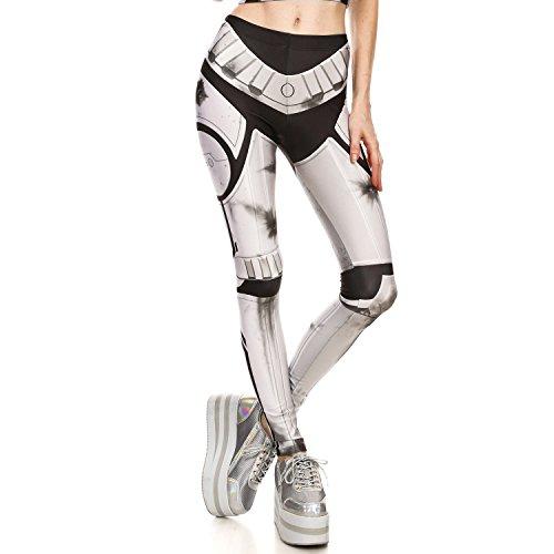 Fashion Elastic Slimming Active 3D Print Leggings Footless Tights, Pattern 1643, M(US 8-10) ()