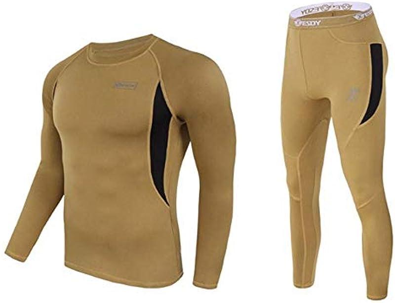 SHYSBV Thermowäsche für Męskie Winter Thermal Underwear Men Underwear Sets Compression Quick Drying Thermo Underwear M: Küche & Haushalt