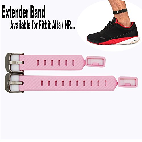 Budesi Extender Band Compatible for Fitbit Flex/ 2 Fitbit Alta / HR Fitness Tracker Wristband-for Large Size Wrist or Ankle Wear 2 Pack with Different Length,No Wristband or Tracker Included