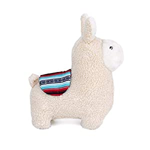 ZippyPaws – Storybook Snugglerz Squeaky Dog Toy with Stuffing – Liam The Llama