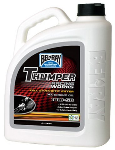 BEL-RAY WORKS THUMPER RACING FULL SYN ESTER 4T 10W-50 (4L), Manufacturer: BEL-RAY, Manufacturer Part Number: 99550-B4LW-AD, Stock Photo - Actual parts may - Ray Ad