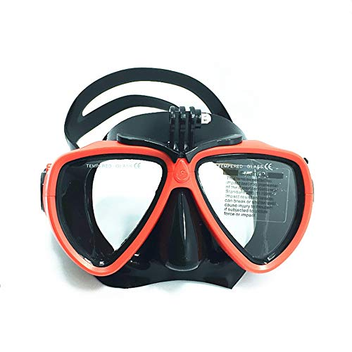 WJH Snorkeling Goggles, Diving Masks Evolution Scuba Diving and Snorkeling Mask for Pc and Non-Toxic Silicone for Adults and Children,Red