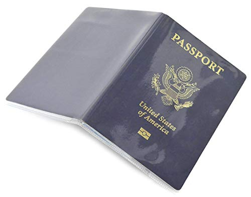(Passport Cover Clear Plastic Vinyl ID Card Protector Case Holder Pack of 5)