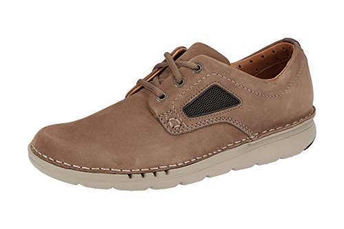 Clarks Unnature Plain, Scarpe Stringate Derby Uomo Marrone