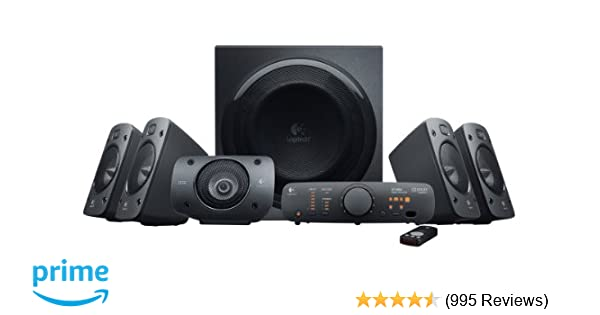 amazon com logitech z906 5 1 surround sound speaker system thx rh amazon com