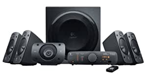 Logitech Z906 Surround Sound Home Theater Speaker System, External TV Speakers
