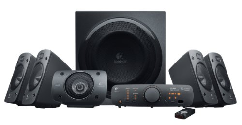 Cheapest Price! Logitech Z906 5.1 Surround Sound Speaker System - THX, Dolby Digital and DTS Digital...