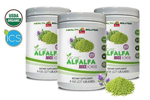 Cholesterol Supplement - Organic Alfalfa Juice Powder - superfood Powder antioxidants - 3 Cans 24 OZ (150 Servings) by Health Solution Prime (Image #7)