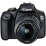 Canon EOS 2000D DSLR Camera and EF-S 18-55 mm f/3.5-5.6 IS II Lens, Black