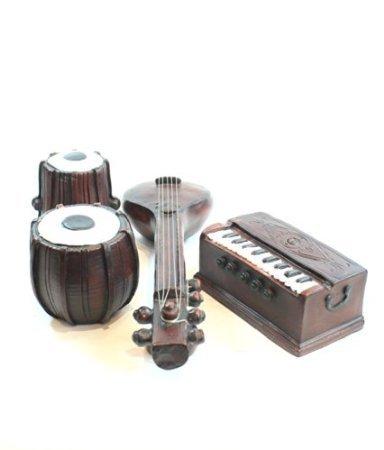 Amazon Miniature Fibre Tabla Harmonium And Sitar Music Decor