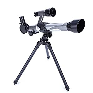 Telescope for Kids Nature Exploration Toys Kid Astronomy Science Kit Telescope With Tripod,Finder,Three Magnification Eyepieces,Light/Stable/Cool/Easy to Use by Scharkspark