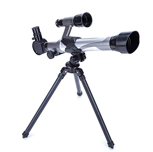 ToyerBee Telescope for Kids Plastic Kids Telescope Nature Exploration Toys Kid Astronomy Science Kit Telescope With Tripod,Finder,Three Magnification Eyepieces,Light/Stable/Cool/Easy to Use (Astronomy Kits)