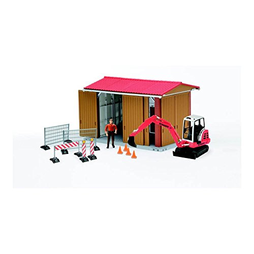 Bruder Bworld Construction Shed with Excavator, Man, and ()