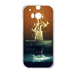 HTC One M8 Cell Phone Case Covers White abstract Painting UTX