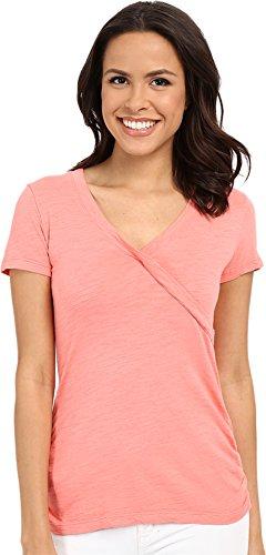 mod-o-doc-womens-slub-jersey-side-shirred-v-neck-tee-cafe-coral-t-shirt-md-us-8-10