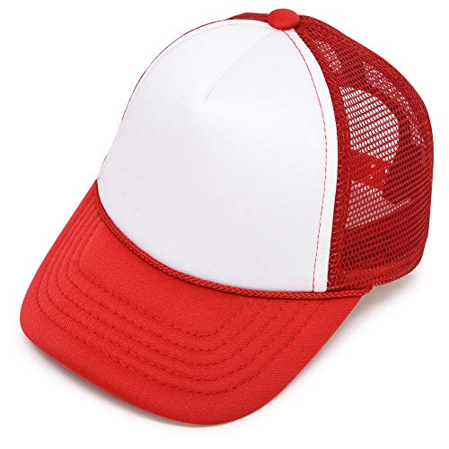DALIX Infant Trucker Hat Baby Cap Tiny Extra Small Girls Boys in Red White -