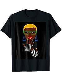 Afro Beautiful Black Natural Hair T -Shirt For Black Women