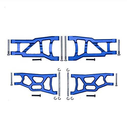 4-Pack Aluminum Front & Rear Suspension A-Arms Replacement of 2555 3631 for Traxxas 1/10 Slash 2WD RC Car Upgrade Parts Hop Ups