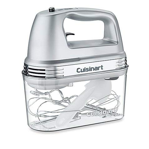 7-Speed Electric Hand Mixer in Brushed Chrome with Storage Case by Cuisinart