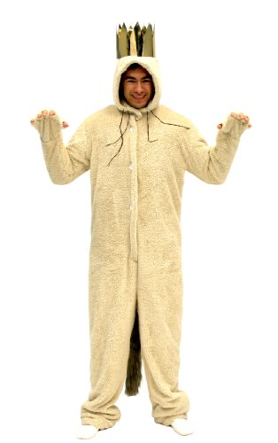 Wild Things Max Costumes (Where The Wild Things Are Max Wolf Adult Costume (Adult Large))