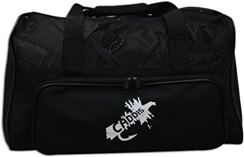 Caddis Deluxe Black Nylon Canvas Wader Bag with Mesh Dry Top, Changing Mat and Carry Straps - Mesh Wader Bag