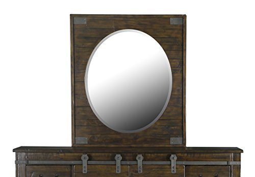 Magnussen B3561-43 Pine Hill Portrait Oval Mirror, Rustic (Dresser Mirror Portrait)