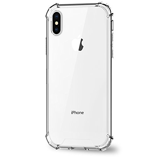 iPhone X Case, Ultra Thin and Slim Clear Soft TPU Bumper Hard Back Panel Anti-Scratch Protective Cover for Apple iPhone X (2017)(Clear) (Clear)