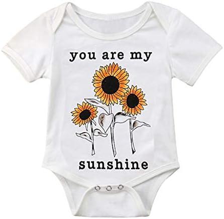 [해외]ZXjymll Newborn Toddler Bodysuit Sunflower Print Jumpsuit Short Sleeve Onesies Rompers Clothes / ZXjymll Newborn Toddler Bodysuit Sunflower Print Jumpsuit Short Sleeve Onesies Rompers Clothes