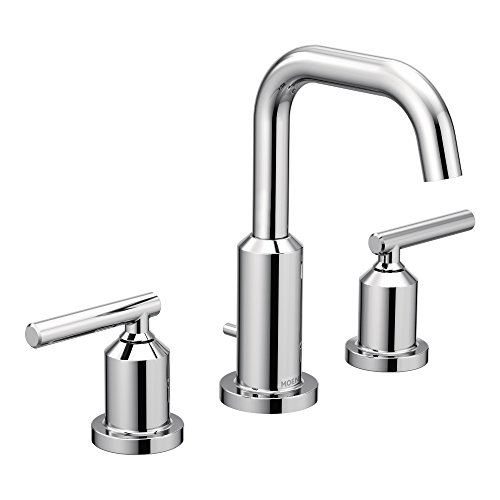 Moen T6142 Gibson Two-Handle Widespread High Arc Chrome Bathroom Faucet by Moen