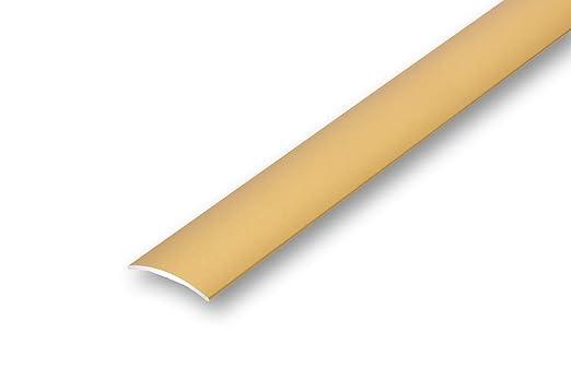 6,85€//m 1180 mm selbstklebend, sand /Übergangsprofil 30 mm gew/ölbt selbstklebend in 6 Eloxalfarben T/ürprofil Schweller Ausgleichsprofil