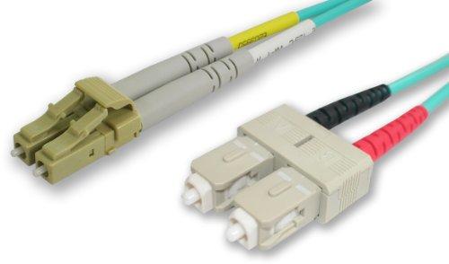 Lynn electrónicos LCSC-10GIG-15M LC-SC 50/125-10 concierto dúplex multi-modo Cable de fibra óptica, 15-metros, agua