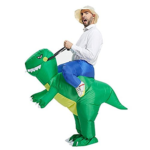 Studyset Funny Inflatable Cosplay Dinosaur Costume Toy Dinosaur Jumpsuit Clothing Halloween Parents-Child Campaign Costumes Gift
