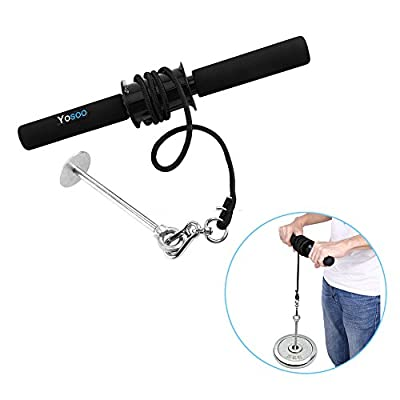 Wrist Forearm Roller Exercise Wrist Grip 9.5KG Exerciser Trainer Forearm Strength Exerciser Weights Strength Bar GYM Arm Dumbells from Estink