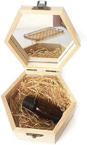 エッセンシャルオイル収納ボックス アロマセラピーは、あなたの友人品質の精油木製収納ケースのための完全なギフトです。 (色 : Natural, サイズ : 13X11.3X6.8CM)