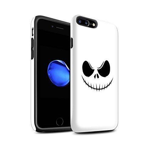 (STUFF4 Matte Tough Shock Proof Phone Case for Apple iPhone 8 Plus/Jack Skellington Inspired Art Design/Horror Movie Art)