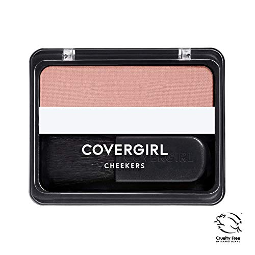 COVERGIRL Cheekers Blendable Powder Blush, Brick Rose 180, 0.12 ounce (Packaging May Vary)