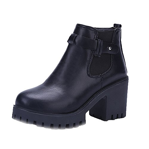 Luluzanm-Women Boots clearence Women Shoes Square Heel Platforms Thigh High Pump Boots Motorcycle Shoes