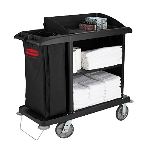 TableTop king 6190 Compact Housekeeping Cart (FG619000BLA)