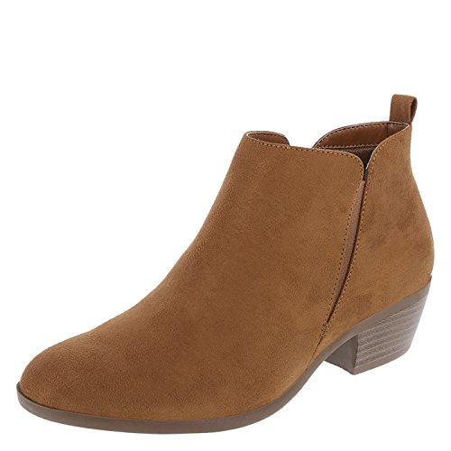 Bootie East Shannon Cognac Women's Suede Side Lower U0SfxS