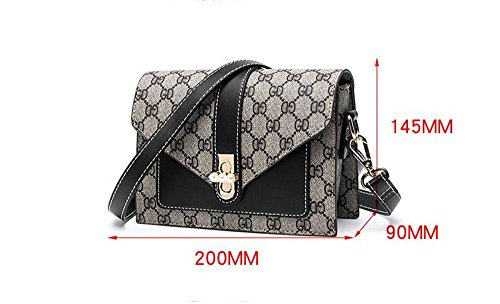 Summer Single Shoulder Bag Woman Bag,Black,200X145X90Mm by SJMMBB (Image #4)
