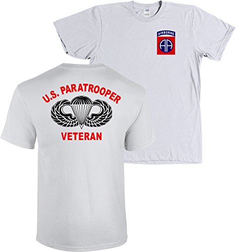 Us Army Ice - 82nd Airborne Division US Paratrooper Army Veteran Shirt (Ice Grey, Medium)