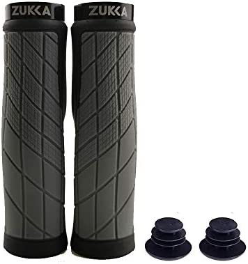 Zukka Bike Handlebar Grips,Comfort Bicycle Bar Grip,Tpr Rubber Anti-Slip Designe