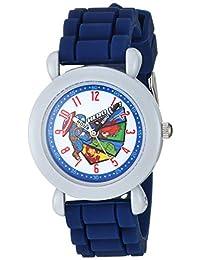 Marvel Super Hero' Reloj de cuarzo para niño, de plástico, acero inoxidable y silicona, color: azul (modelo: WMA000293)