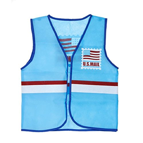 Childrens Dress Up Vest 14 Professions to Choose from - Postal Worker - Post -