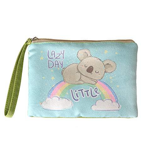 Rantanto Cute Canvas Cash Coin Purse, Make up Bag, Cellphone Bag with Handle (BG0015-1 Koala)