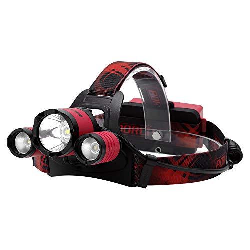 BORUIT Tactical Super Bright 3 LED 5000 Lumen Headlamp Headlight
