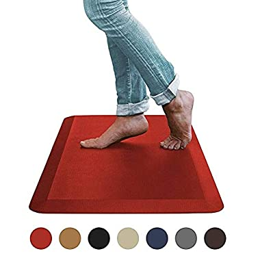 Sky Mat, Comfort Anti Fatigue Mat, Perfect for Kitchens and Standing Desks, 20 x 32 x 3/4  (Brick Red)